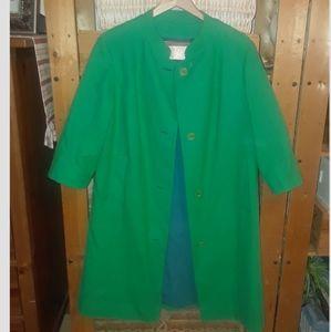 Classic Mod Collar Kelly Green Pendleton Coat